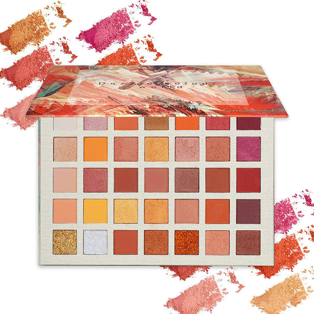 35 Colors Eye Shadow Palette Matte Shimmer Glitter Eyeshadow Highly Pigmented Eye Shadow Palette