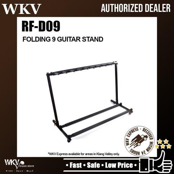 Folding 9 Electric Guitar Stand Nine Holder Multi Guitar Folding Stand Band Stage Electric Guitar Display Rack (RF-D09) Malaysia