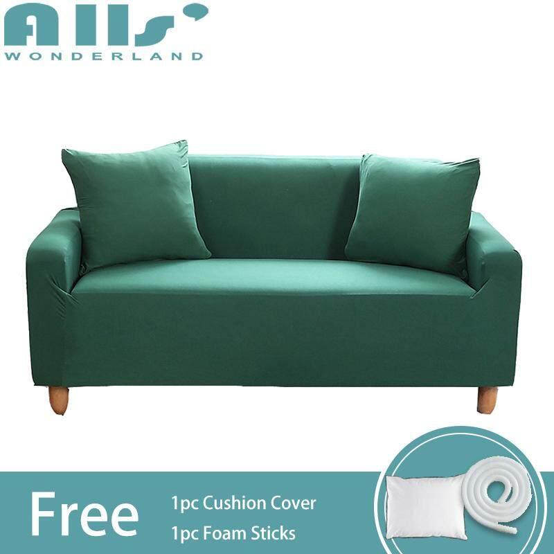 【Slipcover L Size】3-seater Pure Color Stretch Sofa Slipcover Elastic Sofa Cover Universal Corner Sofa Slipcover Furniture Protector(Length Range for 180-220cm/70.86-86.61)