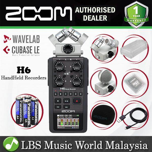 Zoom H6 Handy Recorder Field Recording Mic System and USB Audio Interface  (H6N H 6)