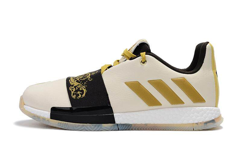 acb4da931 Adidas Official James Harden Harden Vol 3 Low Top Discounted Men s  Basketaball Shoe Beige Gold Black