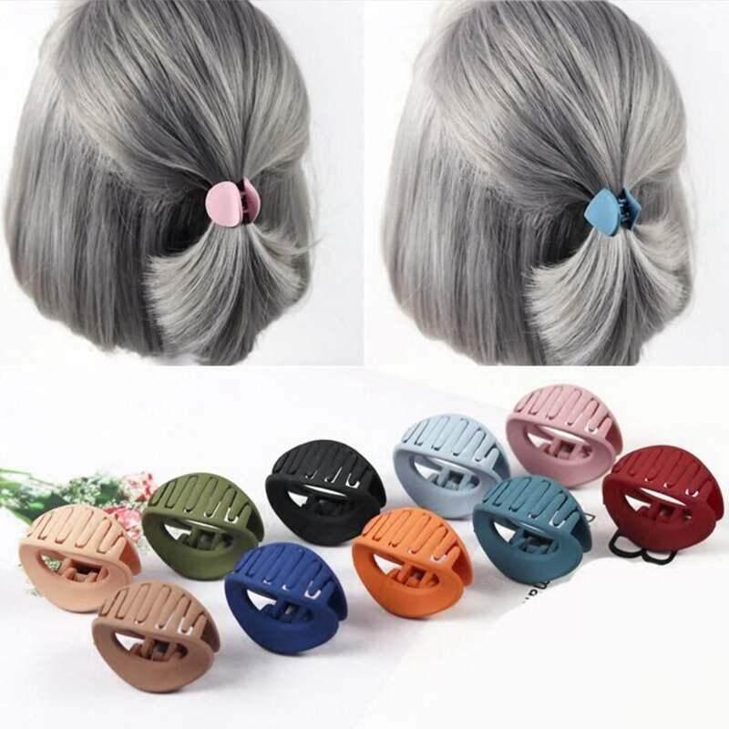 b3f6c37fa6 5PCS Korean Style Women Hair Claw Acrylic Hair Clips Barrette Crab Clamp  Hair Pins Ornaments