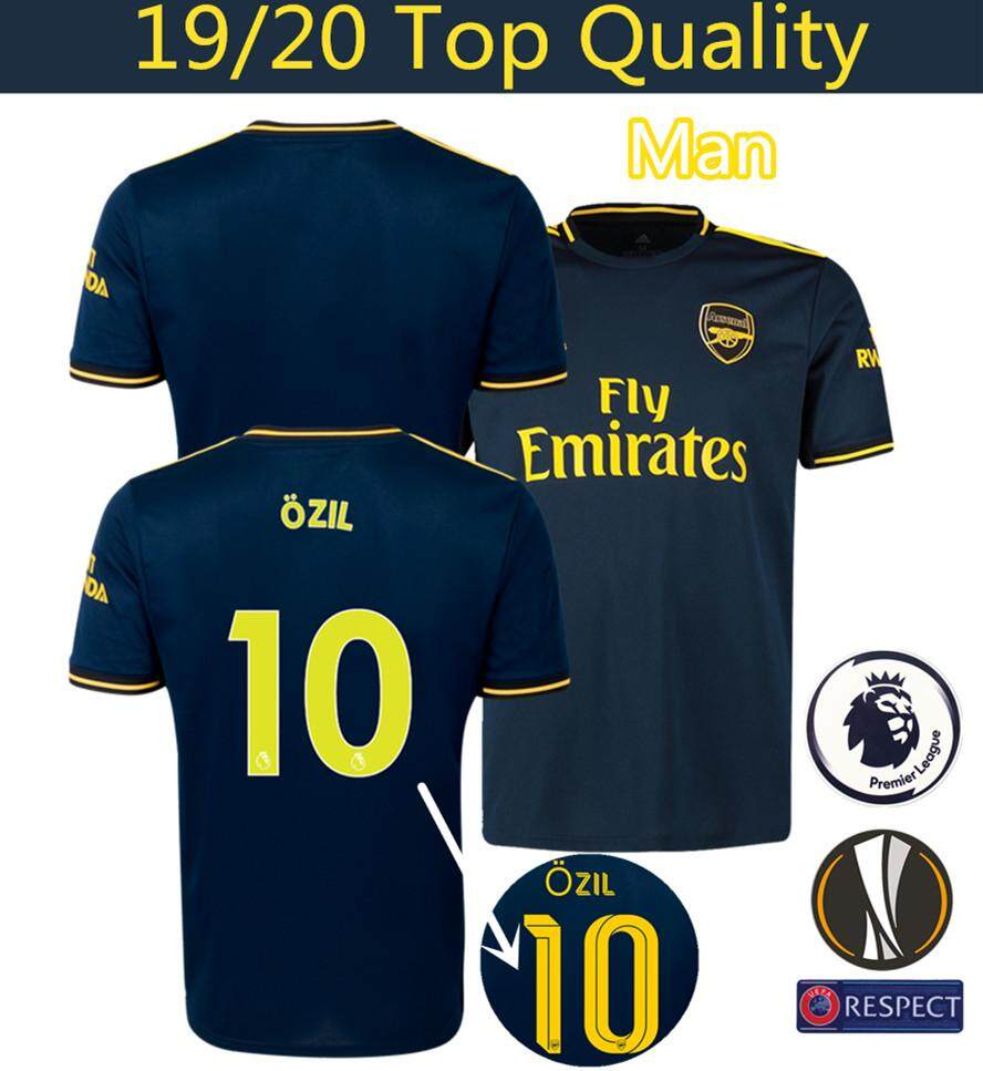 timeless design c0721 15b4a Top Quality 19/20 Arsenal Third Football Jersey Lacazette 9 ozil 10  Aubameyang 14 PEPE 19