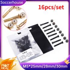 Soccerhouse 16 Cái/bộ M5 Ốc Vít Thay Thế + Đai Ốc Cho Phụ Kiện Ván Trượt Bốn Bánh