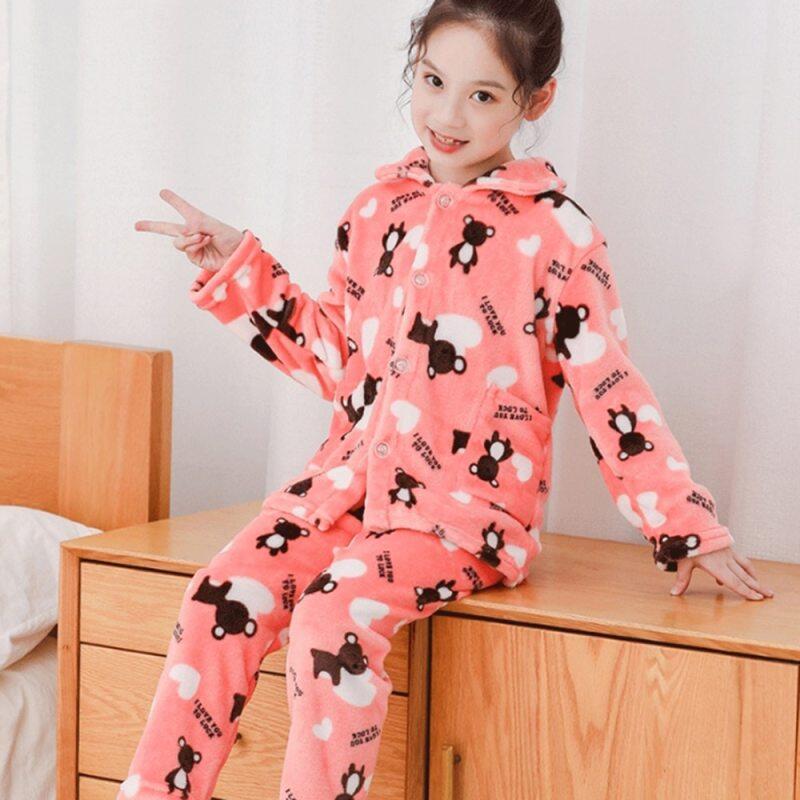 Nơi bán Mùa Đông Trẻ Em Trang Đồ Ngủ Ấm Áp Dép Nỉ Bộ Đồ Ngủ Bé Gái Hoạt Hình Nỉ Mặc Trẻ Em Bộ Đồ Ngủ Dịch Vụ Tận Nhà Bé Trai Bộ Đồ Ngủ
