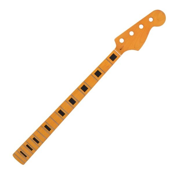 Electric Bass Guitar Neck Yellow Maple Wood 20 Fret Repair Replacement Parts for PB Bass