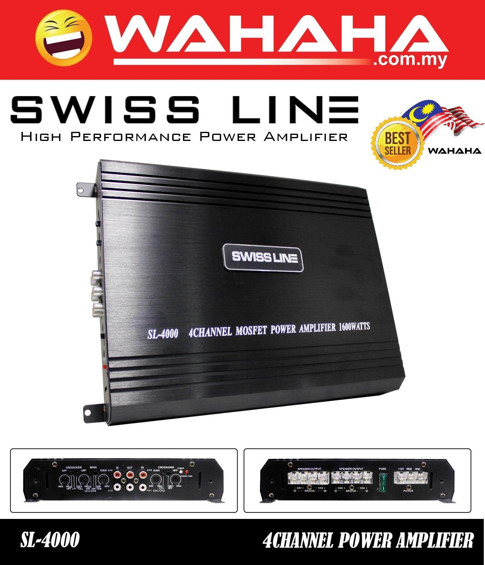 SWISS LINE SL-4000 4 Channel 1600 Watts Car Amplifier High Performance Power