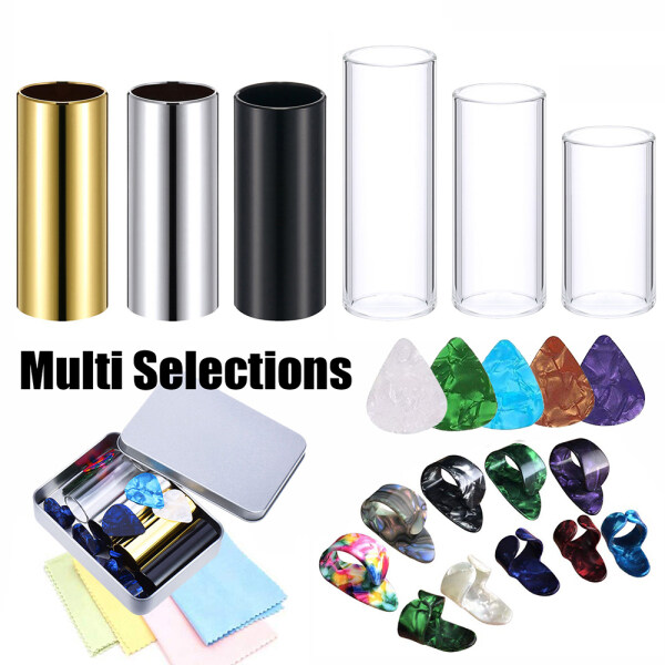 Glass Metal Slider Assorted Picks Finger Cover Electric Guitar Accessories Set (Set 4) Malaysia