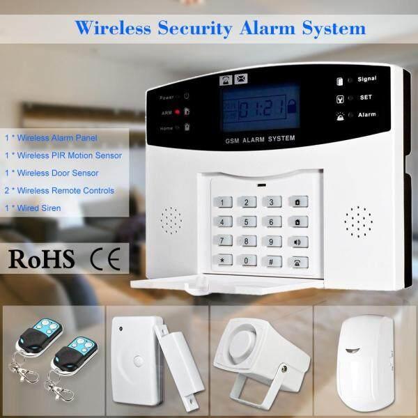 Hệ thống báo động chống trộm không dây GSM SMS tại nhà, bộ cảm biến điều khiển từ xa qua điện thoại 433MHz 1527 - INTL