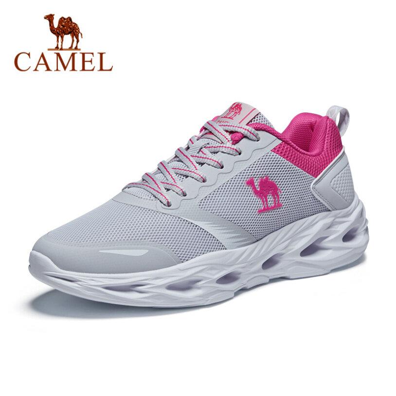 CAMEL giày thể thao chạy bộ bằng lưới thoáng khí với đế PU, có dây buộc cho nữ - INTL giá rẻ