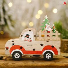 Đồ Trang Trí Giáng Sinh Xe Gỗ YJHH, Đồ Trang Trí Cây Thông Noel, Đồ Chơi Trẻ Em, Trang Trí Nhà Cửa