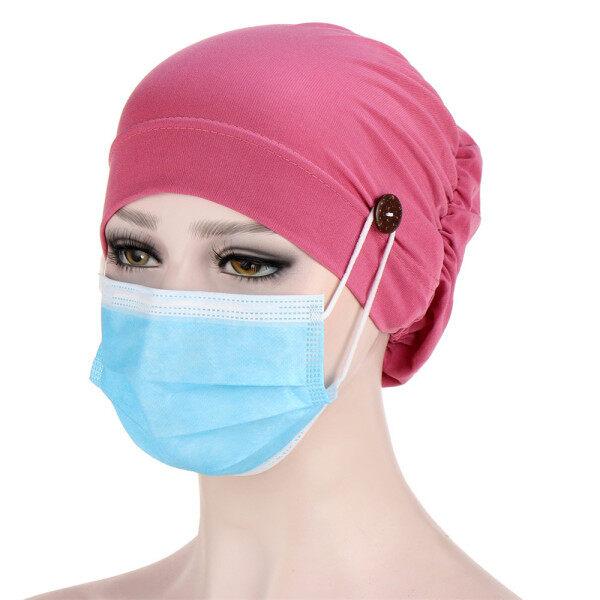 Đầy Màu Sắc Thoải Mái Hồi Giáo Tóc Turban Quấn Đầu Cover Khăn Choàng Đầu