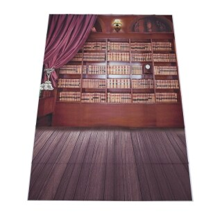 Vintage Library Books Wooden Floor Photography Backdrops Photo Props Studio Background 5x7ft thumbnail