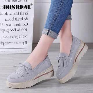 DOSREAL Giày Đế Bằng Nữ Nền Tảng Sneakers, Giày Lười Đế Bằng Da Lộn Cho Nữ Nêm Giày Thường, Phụ Nữ thumbnail