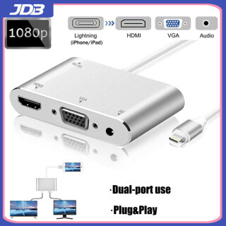 Bộ Chuyển Đổi JDB Lighting Sang Hdmi + Vga Với Bộ Chuyển Đổi Âm Thanh Apple Sang HD TV thumbnail