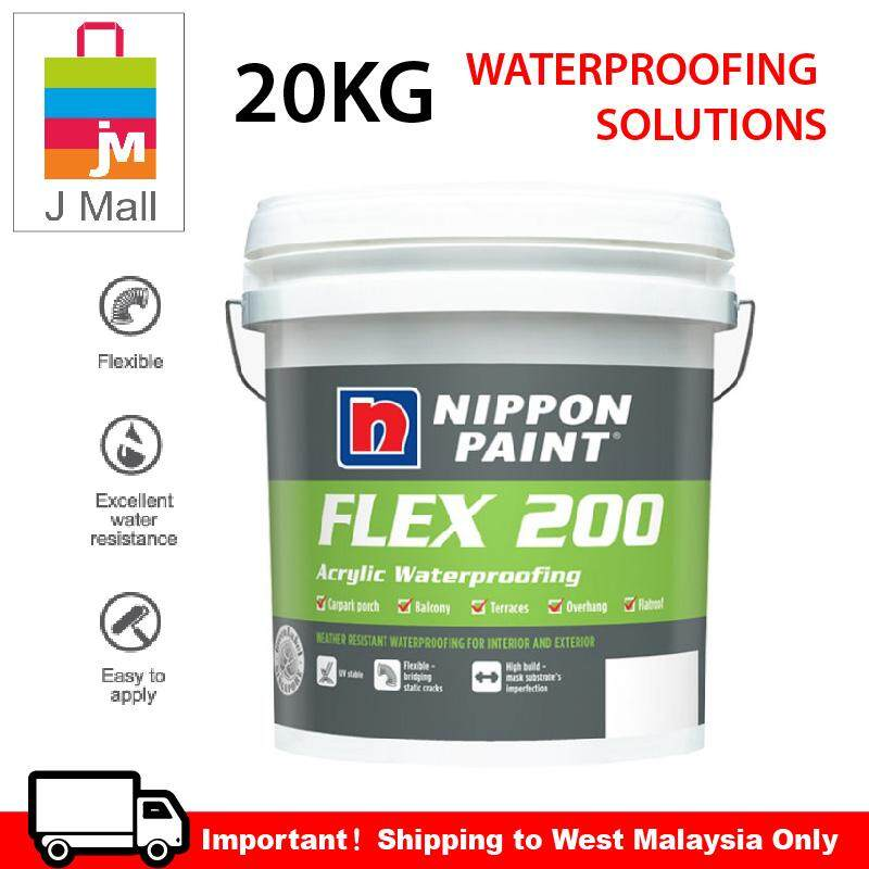 NIPPON PAINT FLEX 200 ARCYLIC WATERPROOFING (20KG) WHITE / GREY