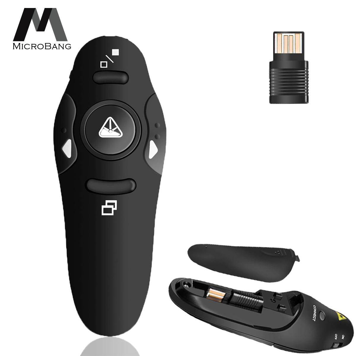 Microbang Wireless Usb Powerpoint Ppt Presenter Remote Control Laser Clicker Flip Pen For Meeting, Report, Lecture And Presentation By Digital Times Square.