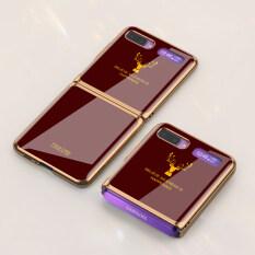 Giá Tốt Nhất Cho Samsung Galaxy Z Ốp Lưng Kính Cường Lực Vỏ Điện Thoại Sơn Deer Daisy Sợi Carbon Vỏ Điện Thoại Di Động Vỏ Bọc Galaxy Z Lật