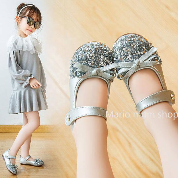 [Cửa Hàng MARIO] Bé Gái Giày Dép Giày Mềm Chống Trượt Giày Khiêu Vũ Trẻ Em Cô Gái Công Chúa Giày giá rẻ