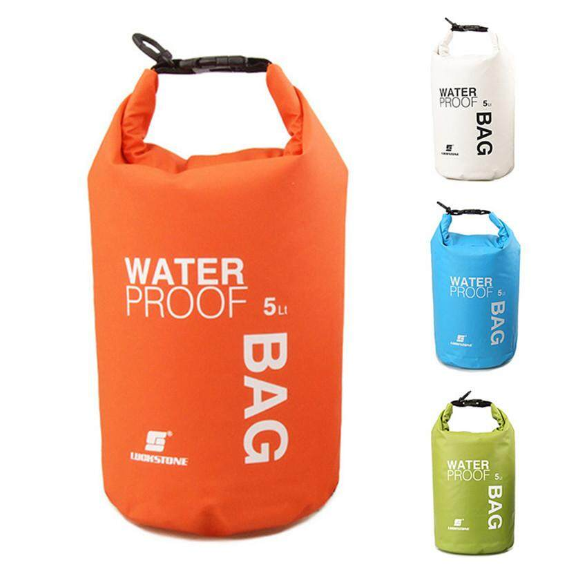 5L Waterproof Nylon Dry Bag for Kayak Beach Rafting Boating Fishing Red