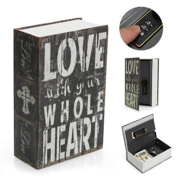 Hollow Storage Safe Password Box Dictionary Book Money Hidden Security Lock