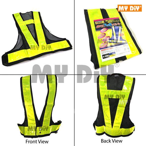 MYDIYBANDARPUCHONGJAYA - Night Leader Safety Vest with V-Shape Reflective 7cm Strip / Reflective Safety Vest / Safety Vest