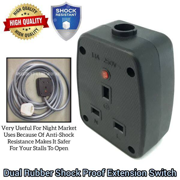 Dual Side Anti Shock Impact Rubber Extension Switch Socket For Home Electrical Stuff