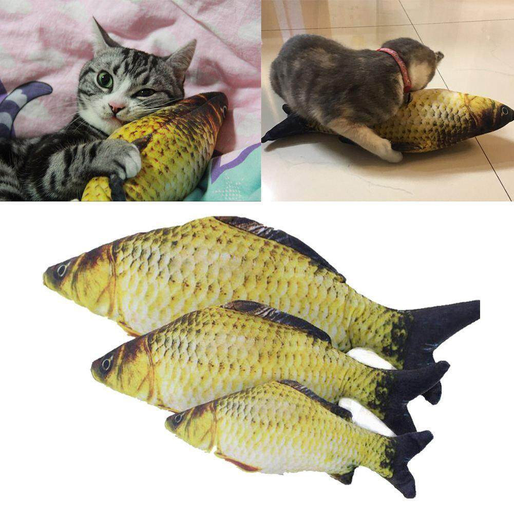 Pet Cat Toys Cute Fish Shape Chewing Toy Simulation Stuffed Fish With Catnip Pet Interactive Toy For Cats Kitten 20cm By Starnet Store.