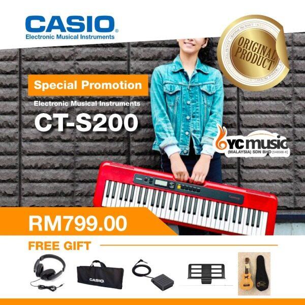 CASIO CASIOTONE  CT-S200RD 61-key Standard Keyboard Malaysia