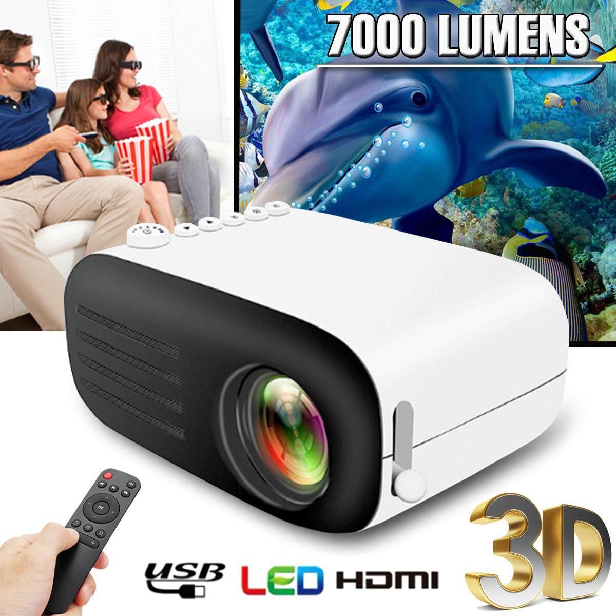 800 Lumens Di Động Mini 1080 P HD Video Máy Chiếu LED Rạp Hát Tại Nhà Điện Ảnh USB HDMI AV SD ÂU/MỸ cắm (Phích Cắm US)