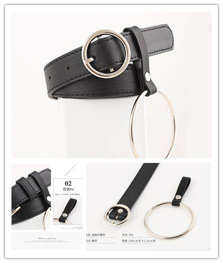 Women Waist Belt PU Leather With Alloy Buckle Lady Girl Belts for Jeans Pants