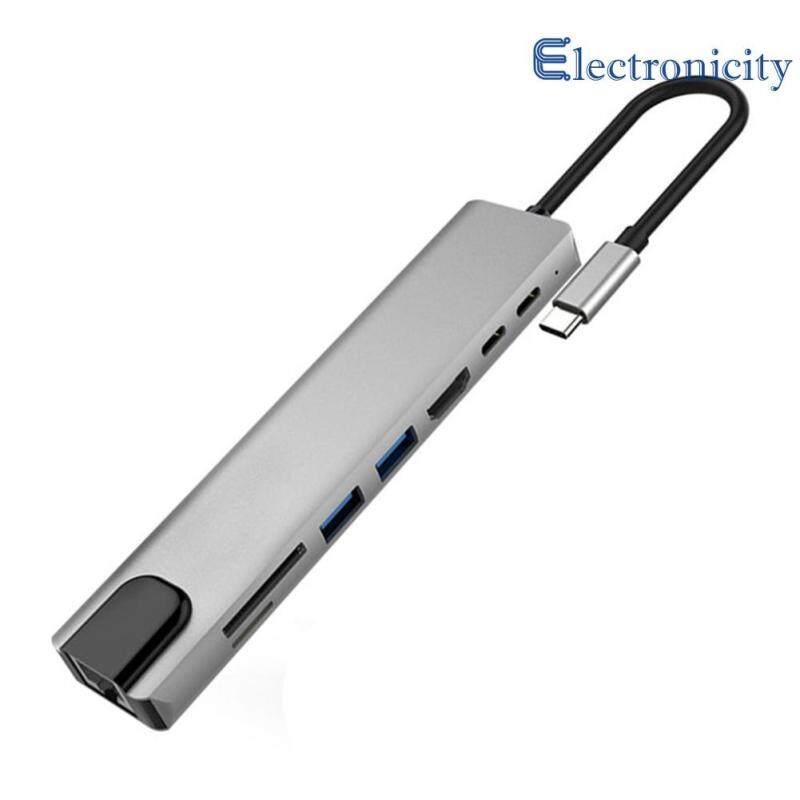 Bảng giá 8 Trong 1 Loại C HUB HDMI USB3.0 RJ45 PD TF Thẻ Nhớ Adapter Chuyển Đổi Phong Vũ