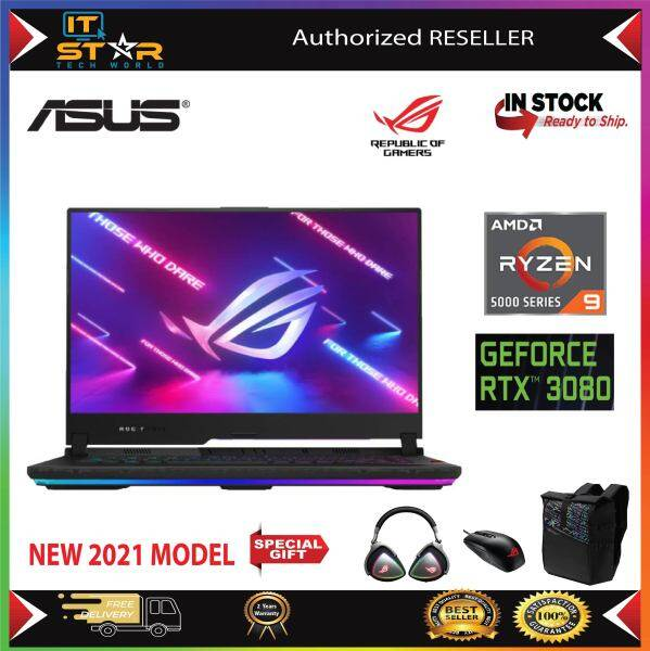 Asus ROG Strix SCAR 15 G533Q-SHF060T | Ryzen 9 5900HX | RAM 32GB, 1TB SSD | RTX3080 16GB |Gaming Laptop 15.6 FHD 300Hz Malaysia