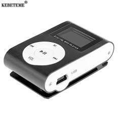 Máy Nghe Nhạc MP3 KEBETEME Mini, Máy Nghe Nhạc MP3 Có Kẹp Màn Hình LCD, Hỗ Trợ Thẻ Micro SD TF Với Cáp USB, Máy Nghe Nhạc MP3 Có Kẹp Kim Loại