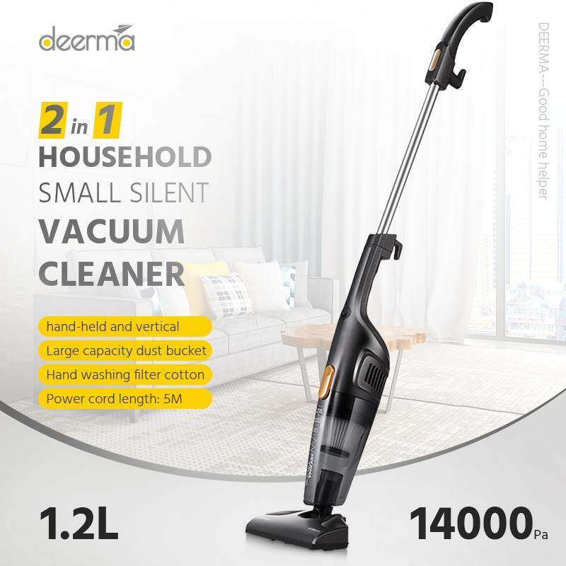 Original Xiao mi Deerma Portable 2-in-1 Floor Polisher Household Small Silent Vacuum Cleaner Household Silent Vacuum Cleaner Strong Suction Power Home Suction Pump Dust Collector New Generation Cleaner house cleaning electric broom Singapore