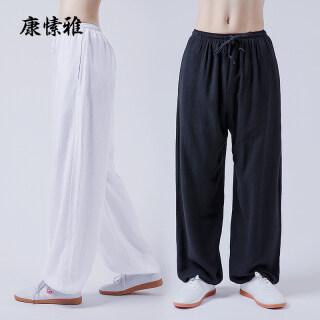 Quần Kang Su Ya Tai Chi Quần Tập Taijiquan Mùa Hè Vải Lanh Và Cotton Cho Nam Và Nữ, Bộ Quần Tập Võ Thuật Quần Dài thumbnail