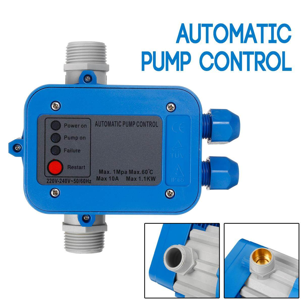 240V Water Pump Controller Automatic Pressure Switch Electronic 1Mpa 10bar