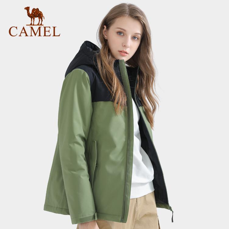 Áo khoác nữ chất liệu dày dặn giữ ấm chống nước thích hợp mùa thu mùa đông thương hiệu Camel size lớn