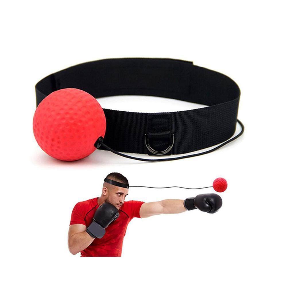 Nicetoempty Reflex ลูกบอลซ้อมชกมวย/มวยอุปกรณ์ออกกำลังกายสำหรับการฝึกอบรม Punching Reflexes ประสานมือตา & ความแม่นยำ/ความเร็วสูงพร้อมปรับสายรัดศรีษะ/ String By Nicetoempty.