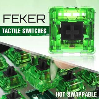 Feker 10 70 110 Cái Công Tắc Ngọc Lục Bảo 3 Pin, Bàn Phím Cơ Trục POM Trục Công Tắc Swapple Nóng thumbnail