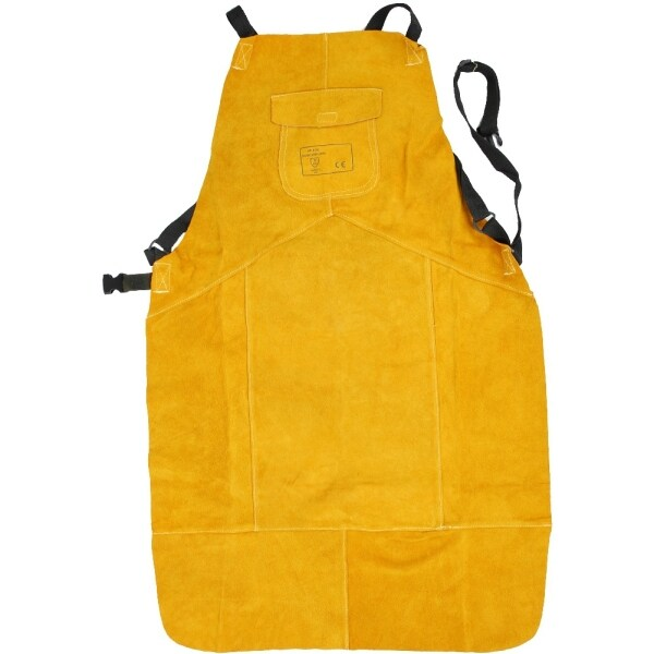 Protection Apron, Stable Fireproof Thread Cowhide Apron, Convenient Exquisite Workmanship Professional Reliable Electrician Welder Worker for Blacksmith