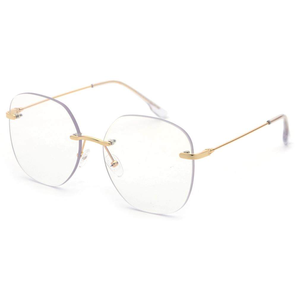 751616c86bb Rimless Eyeglass Frame Optical Women 2019 Clear Lens Metal Big Square Eye  Glasses Frames for Men