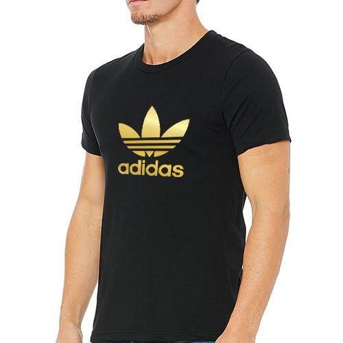3d6d79eaa1bc ADDIDAS RAINFALL GOLD Men Regular Fit T-Shirt Short Sleeve