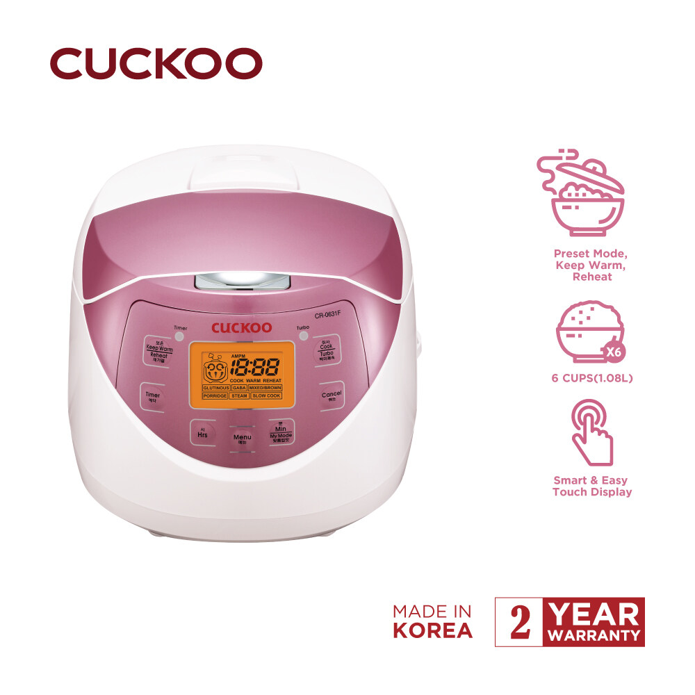 Cuckoo CR-0631F 6 Cup Multi-functional Fuzzy Logic Rice Cooker - Pink |  Lazada