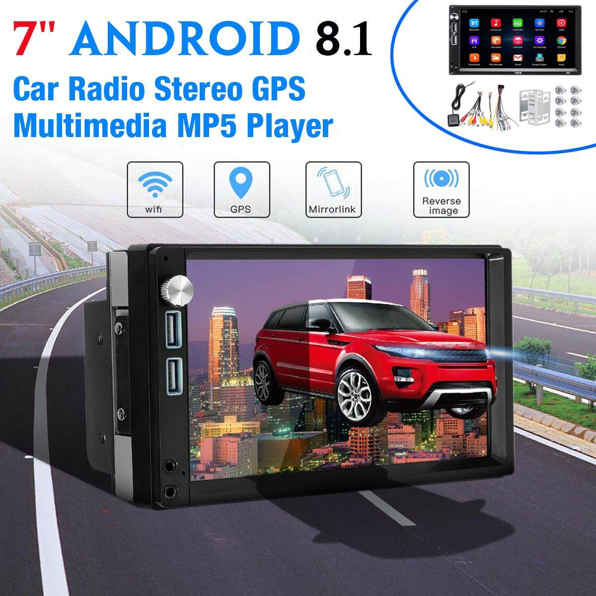 Swm-A5 7inch Android 8.1 Car Radio Stereo Gps Mavigation Multimedia Mp5 Player By Haldis.