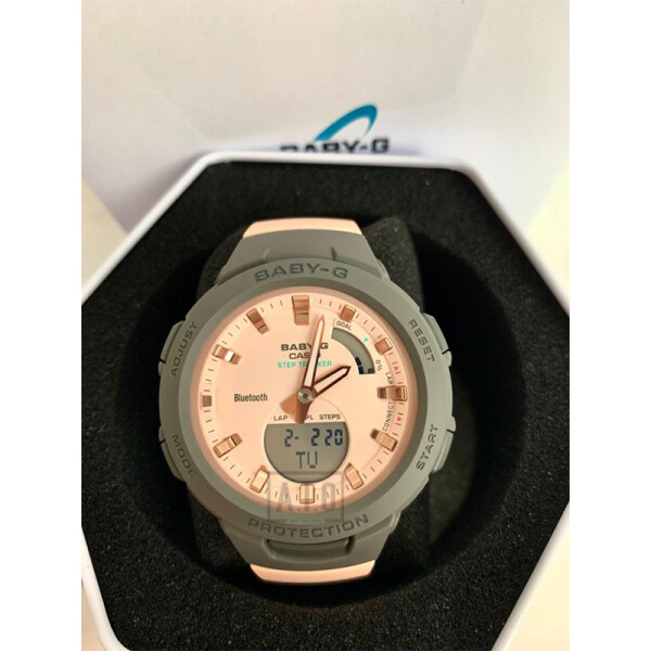 *New Arrival* Casio Baby-G G-SQUAD Bluetooth® Pink Resin Band Watch BSAB100MC-4A BSA-B100MC-4A (jam tangan wanita / casio watch / casio watch women) Malaysia