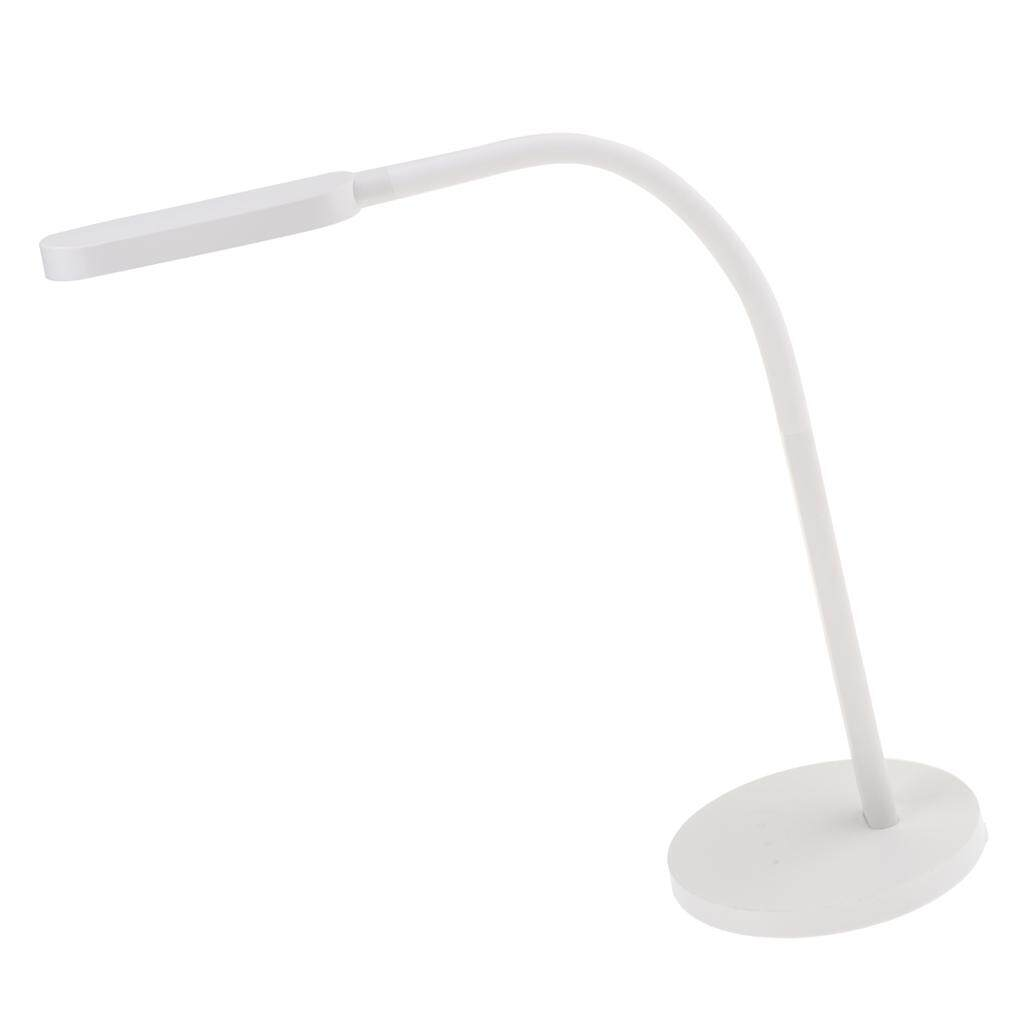 Perfk Dimmable LED Desk Table Lamp Reading Light USB Rechargeable Eye Caring