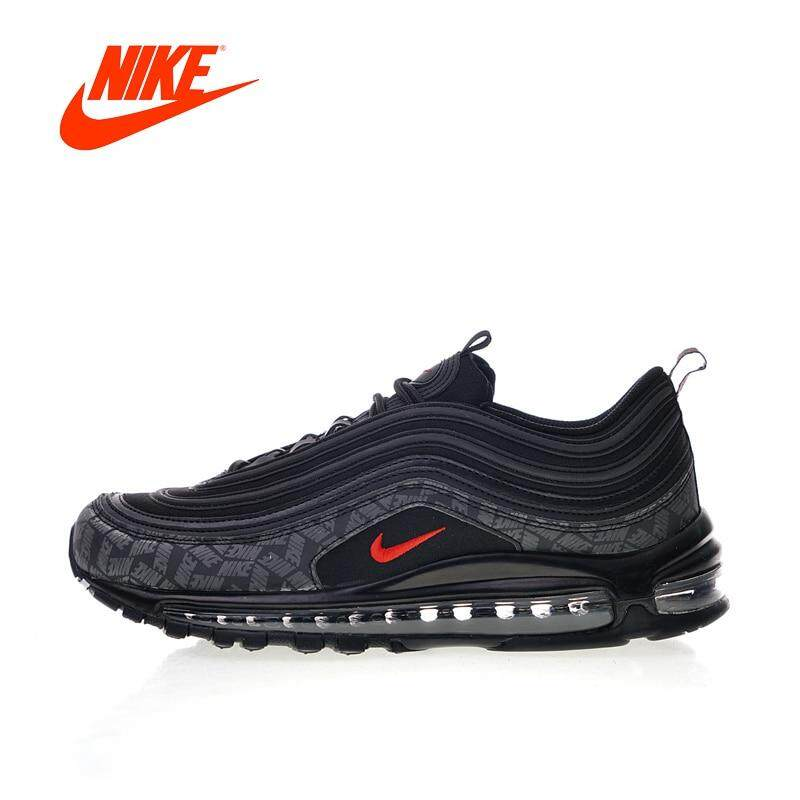 ยี่ห้อไหนดี  ราชบุรี Original New Arrival Authentic Nike_Air_Max_97 Reflective Logo Men s Comfortable Running Shoes Sneakers Good Quality AR4259-001