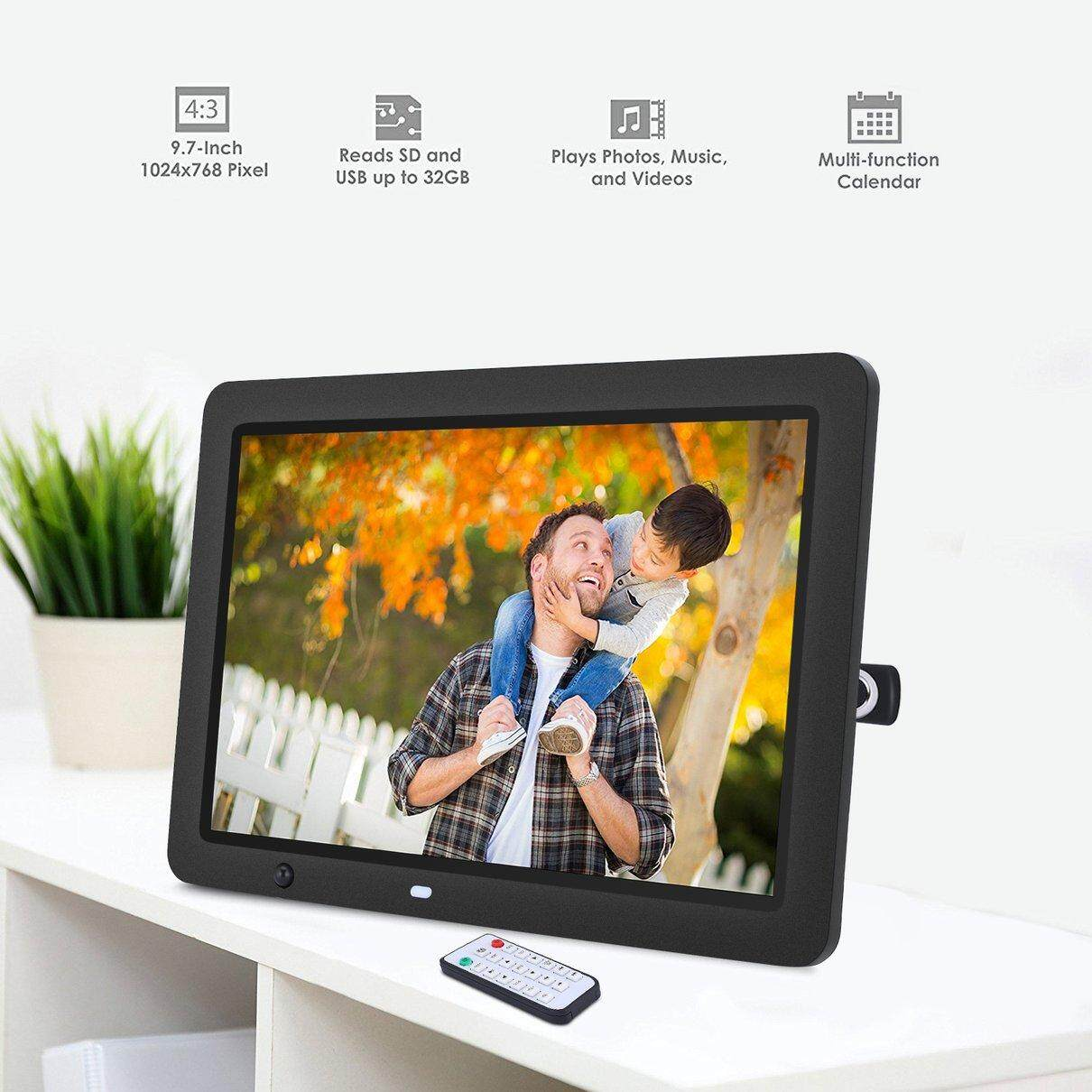 Hot Sale 12 inch LED HD Digital Photo Frame with RC Motion Sensor And 8GB Memory
