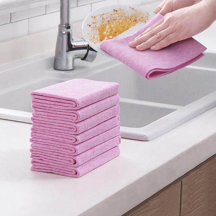 Sunwonder New Non-sticky Dishwashing Multi-functional Dishwashing Superfine Fiber Scouring Rag